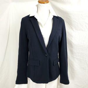 Banana Republic Blazer Jacket S Navy Jersey Knit